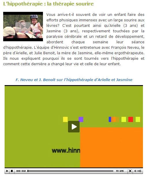 Article Hinnovic - Hippothérapie